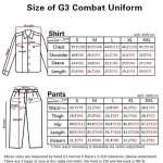 Airsoft Militaire BDU Fonction de Combat Tactique G3Uniforme Chemise Toursers at/FG