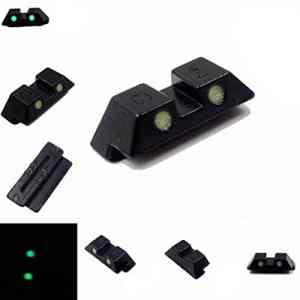 Auace Kit de visée Tactique à Pois Verts pour Pistolet Glock 9 mm/.357 Sig .40/45