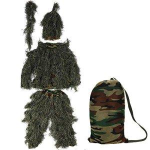 GOTOTOP 175–190cm adulte chasse ghillie Camouflage Vêtement De Chasse Vêtements Combinaison pour l'observation des oiseaux de forêt