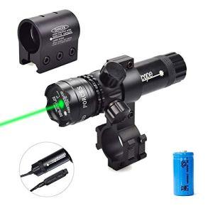 Huntheart Pression/pointeur Vert de pointeur de Point de Vue de Faisceau de Laser Vert avec des Anneaux de bâti de Picatinny/Scope