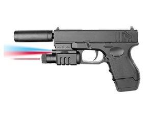 Plan Beta Pistolet G-Mod Silencieux + Lampe + Laser Spring BK 0.5J Adulte Unisexe, Noir, Taille Unique