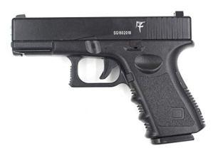 Saigo Airsoft-Pistolet à Billes G17 à Ressort, matière:métal-Rechargement Manuel-Puissance: 0,5 Joule