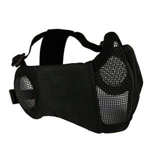 Hunting Explorer Masque Tactique de Demi-Masque Facial avec la Couverture d'oreille Airsoft CS Protecteur inférieur pour Le Paintball BBS de tir