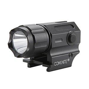 Comunite G03 Rail Mount Arme Tactique Lumière 600 Lumens LED. Rail 20mm Idéal Pour Picatinny et Glock-type Rails Pour une Installation Facile et Retrait