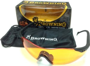 BROWNING Claybuster Lunette de protection Mixte Adulte, Orange