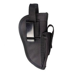 Étui pour arme à feu universel et interchangeable – Pour Glock 17,19,21,23,27,40,42, 43 – Calibre .380, P320, Ruger1911 9mm, Taurus, Beretta, Compact, M & P – Avec poche, Noir