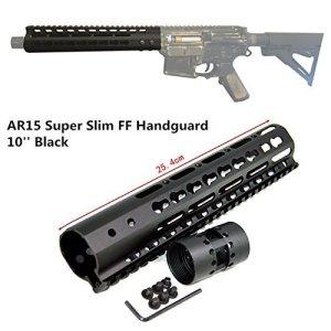 FIRECLUB 13,5 cm (9″ 10″ 12″ 15″ AR15-Float KeyMod beweglich Taktische Picatinny-Schiene, mit Schaft mit für Die Jagd (10 Zoll)