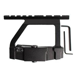 Noga Rail Métal AK47 / AK74 Saiga Rifle Airsoft Side Rail Portée QD 20mm Picatinny Vue Chasse
