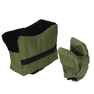 Sac de Repose à Banc Target Rest Bag Tactique Portable Support de Poitrine Sac d'Appui Avant Arrière Set pour Chasse Tir Rifle – Verte d'Armée