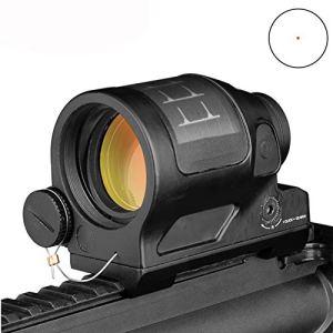 ERGUI Reflex Sight Solar Power System Hunting 1X38 Red Dot Sight Scope with QD Mount Optics Rifle Scope