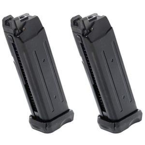 Airsoft Parts APS 2pcs 23rd Co2 Mag Magazine pour Action Combat Pistol ACP601 Noir