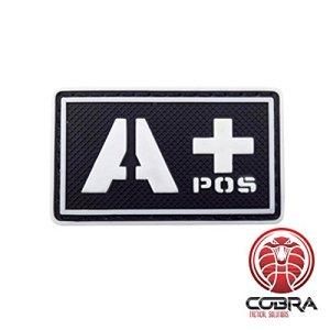 Patch Militaire Écusson 3D PVC avec sa lanière Velcro pour airsoft/paintball Condor sang Patch noir/blanc/fluo A+ POS pour Sac à Dos Tactique Vêtements,…