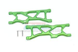 Arrma 1/10 KRATON 4S BLX Upgrade Pièces Aluminium Rear Lower Arms – 2Pc Set Green