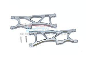 Arrma 1/10 KRATON 4S BLX Upgrade Pièces Aluminium Rear Lower Arms – 2Pc Set Grey Silver