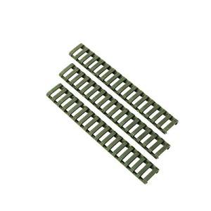 NO LOGO Lixia-Qiang, 8pcs antidérapante légère Chaleur Durable résistant Covers Caoutchouteux Fit for Keymod/M-Lok Rail Picatinny (Couleur : Vert)