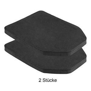 2PCS Plaque Protection de Gilet Tactique Coussin Protecteur Doublure en Mousse EVA Intérieur de Veste Militaire Anti-chocs pour Jeux CS Paintball Chasse Airsoft Activités Extérieures