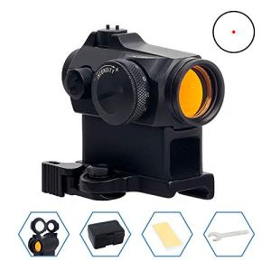 FOCUHUNTER Tactique Reflex Rouge Dot 12 Luminosité Airsoft 2 MOA Sight Scope 20mm Montage sur Rail pour la Chasse et Le Tir