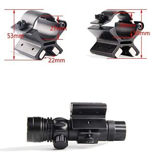 MAYMOC Support magnétique pour Lampe de Poche à Montage au Pistolet avec Double Aimant de Forme rectangulaire Cadre Stable en Forme de X pour Lampe de Poche 1″ équipement de Chasse