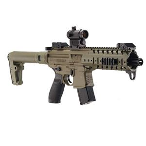 Sig Sauer Pistolet Mitrailleur MPX ASP FDE + Red Dot Co2, 4,5 mm – 0,5 Joules