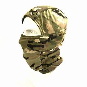 WorldShopping4U Ninja Hood Kryptek Camoufler Cagoule Tactique Airsoft Extérieur Chasse Souple Complet Visage de Protection Masque (AllTerrainCamo) (ATC)