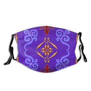 Aladdins Magic Carpet Masque lavable avec boucles d'oreilles réglables pour homme et femme