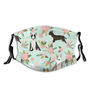 Bull Terrier – Masque facial lavable avec boucles d'oreilles réglables pour homme et femme – Réutilisable en extérieur