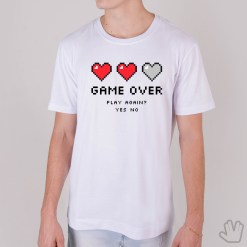 Camiseta GAME OVER - Loja Nerd
