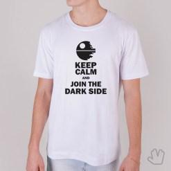 Camiseta Keep Calm And Join The Dark Side - Star Wars - Loja Nerd