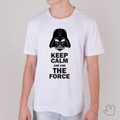 Camiseta Keep Calm And Use The Force - Loja Nerd
