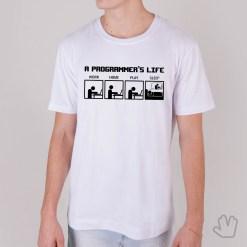 Camiseta Vida de Programador - Loja Nerd
