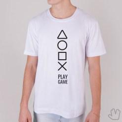 Camiseta Play Game Branca - Loja Nerd