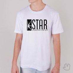 Camiseta Star Labs Branca - Loja Nerd