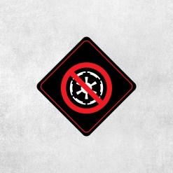 Placa Decorativa Star Wars - Império - Loja Nerd