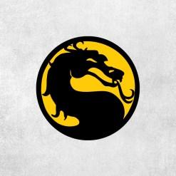 Placa Decorativa Mortal Kombat Amarelo - Loja Nerd