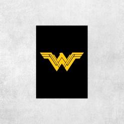 Placa Decorativa Mulher Maravilha Logo