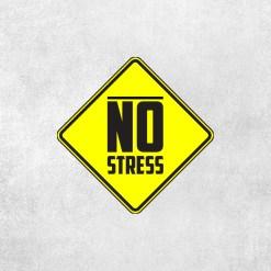 Placa Decorativa No Stress - Loja Nerd