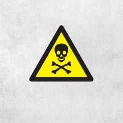 Placa Decorativa Perigo Caveira - Loja Nerd