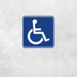 Placa Decorativa Reservado Deficientes - Loja Nerd
