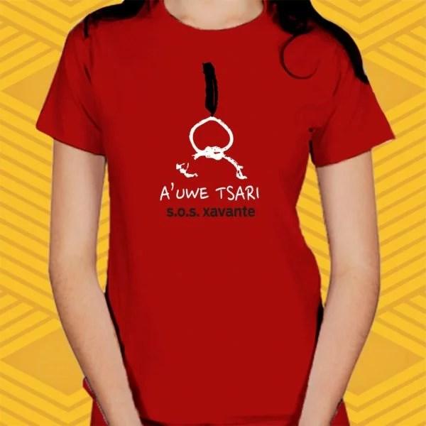 Camiseta A'uwe Tsari Baby Look