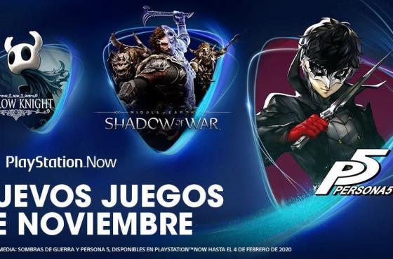 Persona 5, La Tierra Media: Sombras de Guerra y Hollow Knight se unen a PlayStation Now en noviembre