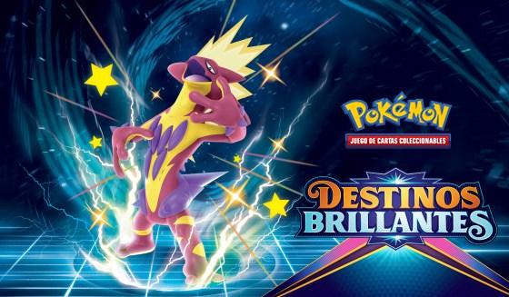 La nueva expansión Destinos Brillantes del JCC Pokémon incorpora más de 100 Pokémon variocolor