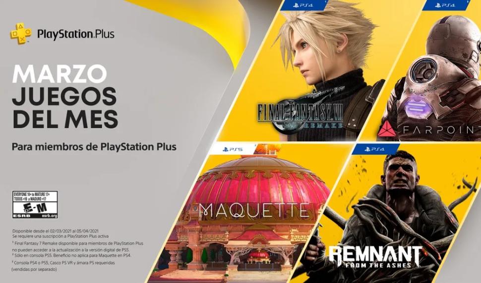 PlayStation anuncia los juegos de PlayStation Plus de marzo