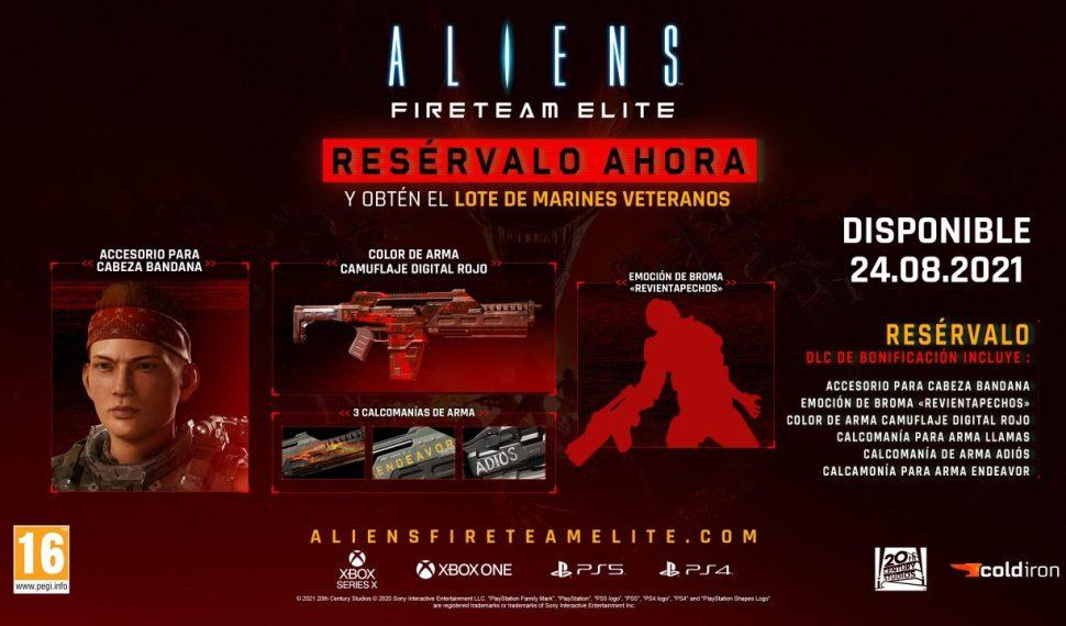Aliens: Fireteam Elite ya a la venta