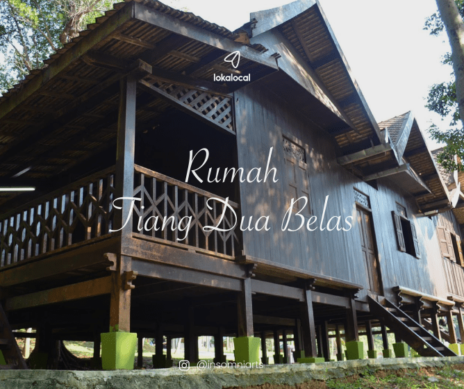 Commonly found in the northern states, Rumah Tiang Dua Belas is larger and stands on 12 stilts.
