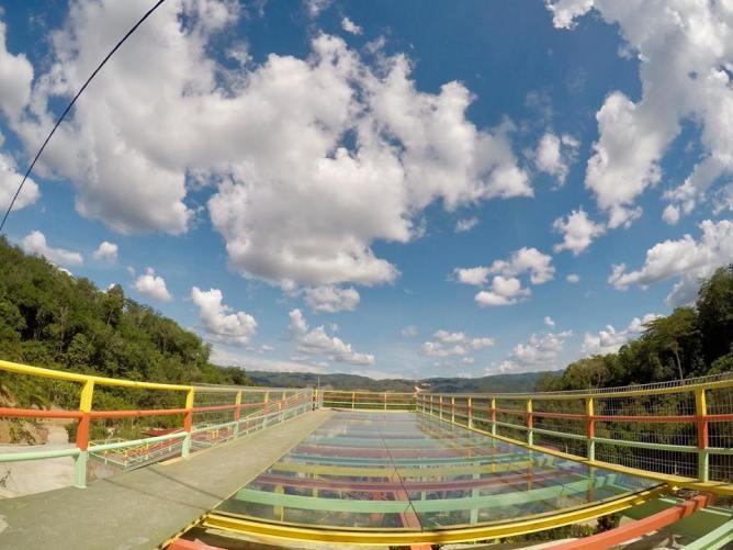 Beautiful glass bridge in the farmstay.