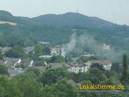Die Rauchsäule war schon vom weiten zu sehen. Foto: privat