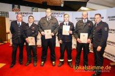 zum Hauptfeuerwehrmann: OFM Alexander Fischer LG Knerling, OFM Lars Rothe LG Rahmedetal, OFM Christoph Rothe LG Rahmedetal, OFM Timo Woermann LG Evingsen.