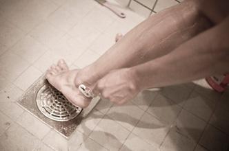 Shaving the legs