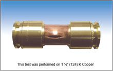 MedGas Copper fitting test photo