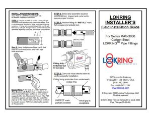 Lokring MAS Field Installation Guide